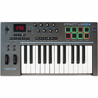 Nektar Impact LX 25+  USB MIDI клавиатура, 25 клавиш, совместимо с Mac/PC/iPad/ПО Bitwig 8-Trac